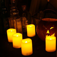 6 Pack Long Lasting Battery Operated Flameless LED Votive Candles with Remote