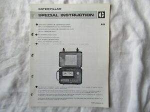Caterpillar 9S9102 thermistor thermometer engine heat service instruction manual