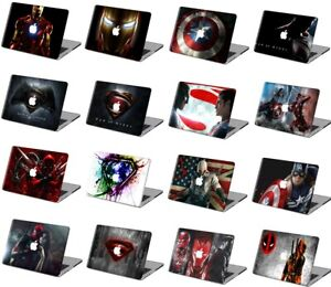 Matte Rubberized Iron Man Hard Logo Cut Case Shell Cover For New Macbook Pro Air