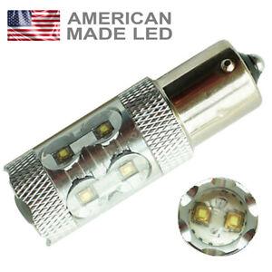 1 x 50w Cree Super Bright White LED Reverse Light Bulb BA15s 382