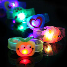 LED Light Up Bracelet Activated Glow Flash Bangle Creative Kids Gift