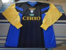 Raro SS Lazio Roma Umbro Cirio Portero Gk Camisa Negra 90 1997-98 L Nuevo De Colección