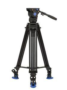 BENRO BV6 -21% Kit Pro Trépied + Tête Vidéo Fluide Capacité 6Kg