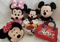 Disney Mickey & Minnie Mouse collection Bundle plush barrel mug bag purse