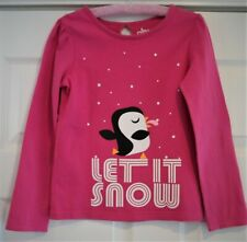 """Circo Girls """"Let It Snow"""" Long Sleeve T-Shirt Top-Size Small 6/6X"""