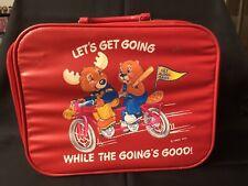 Vintage Get Along Gang 1983 Red Overnight Childs Suitcase Bag