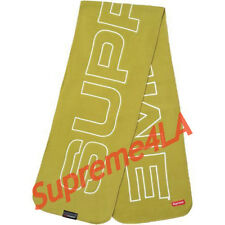Supreme 17F/W Polartec Logo Scarf Sulphur 1000% Authentic in Hand