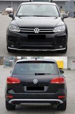 VW Touareg 7P Frontspoiler + Heckansatz Spoiler Lippe Bodykit Tuning Heckspoiler