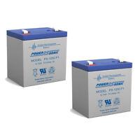 Power-Sonic 12V 5AH SLA Battery Replaces Empire Scientific, MPN SLA5-12 - 2 Pack