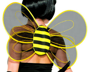 Bumble Bee Wings adult sheer stage theatrical costume party novelty buzz bug