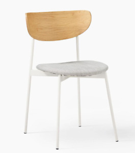 John Lewis Modern Petal Upholstered Dining Chair, Feather Grey / White- RRP £209