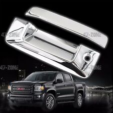 For 2015 GMC Canyon ABS Plastic Chrome Tailgate Handle Cover No Camera Hole