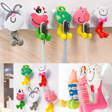 New Cartoon Animal Toothbrush Holder Wall Mounted Sucker Bathroom Suction Cup