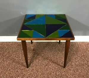 Rare Mid Century Georges Briard Mosaic Glass Side Table