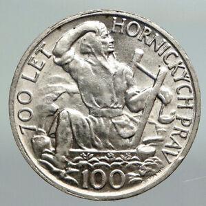 1949 CZECHOSLOVAKIA Slovak Uprising VINTAGE OLD Silver 100 Korun Coin i92230