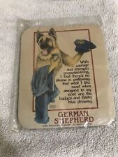 NEW VINTAGE 1993 German Shepherd dog MOUSEPAD Original packaging Approx 9x8 in