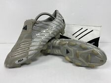 Men's ADIDAS F50+ TRX FG Silver FOOTBALL BOOTS & Extra Insoles / Case SIZE UK 9
