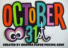 Halloween title paper piecing for Premade Scrapbook Pages Die Cut by Rhonda