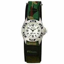 Ravel Hook & Loop Band Wristwatches