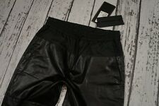 BNWT NEW H&M ALEXANDER WANG PANTS LEATHER JOGGING TROUSERS 100% EUR40 US10
