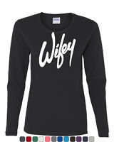 Wifey Long Sleeve T-Shirt Wife Bride Wedding Marriage