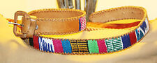 Very Vintage Artisan Handmade Leather Belt / M
