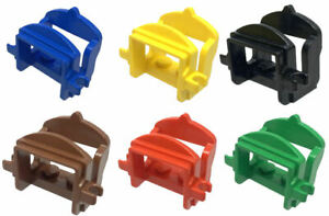 Lego Brick 4491b Animal Horse Saddle with Two Clips Select Colour.
