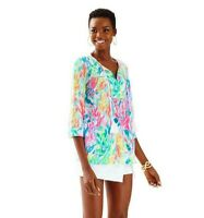 LILLY PULITZER $78 Tilda Tassel Vibrant Tunic Top in Sparkling Sands Size XS
