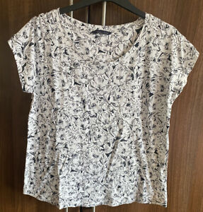 M & S Collection MARKS & SPENCER Floral t shirt top size 12