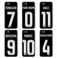 PERSONALISED CUSTOM BLACK REAL FOOTBALL 2018 PHONE COVER CASE FOR APPLE IPHONE