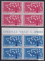 ITL174) Italy set of 3 blocks of 4,1962 Europa Stamps, International Balzan Foun