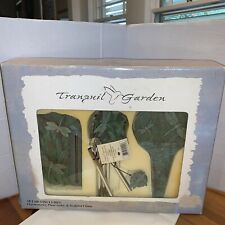 Tranquil Garden Dragon Fly Gift Set Includes Thermometer, Plant Stake,Sculpted