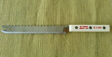 VTG ADVERTISING- FIXED BLADE HOLLOW GROUND KITCHEN/BUTCHER KNIFE☆SERRATED SPINE