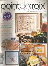 POINT DE CROIX MAGAZINE N°01 LE PRINTEMPS / LE CHOCOLAT / FETE DES COULEURS