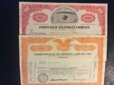 4 Different Puerto Rico Stock Certificates