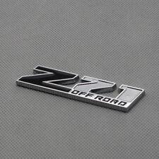 Black Metal Z71 Off-Road Door Fender Logo Badge Chrome Sport Rear Emblem Sticker