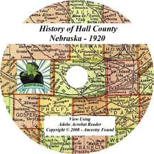 1920 History & Genealogy of HALL County Nebraska NE