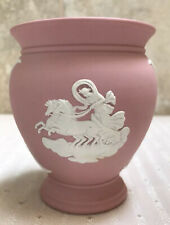 Rare Wedgwood Jasperware Pink Pedestal Vase Pegasus Stamped 82