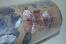 Vintage Warner Wallpaper Gold w Floral Embossed Foil Metallic Double Roll Italy