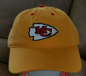Vtg Kansas City Chiefs Yellow NFL Adjustable Cap New w/ Tag