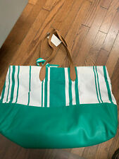 A New Day Jade Green Striped Bag