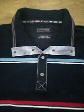Claudio Campione Designer Men Navy Pullover 1/4 Button Yachting Sweater Size XXL