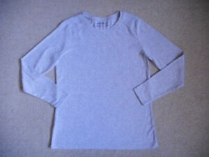 """Womens Top-EDDIE BAUER-""""Outdoor"""" gray marled cotton stretch knit long sleeve-XL"""