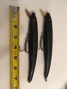 """2 Bomber Magnum Long A Lure BLACK 7"""" 1 1/2oz Vintage 1990's Lot V"""