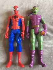 2 X Marvel 12� Spider-Man And Green Goblin Action Figures Spiderman