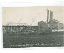 B82421 US Iowa Mason City NW Portland Cement Factory Real photo front/back image