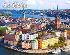 Sweden - STOCKHOLM - Travel Souvenir Flexible Fridge Magnet