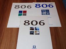 Peugeot 806 Prospekt von 10.1998 ... mit Preise und Farben