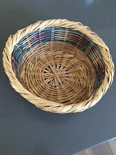Round Straw/wicker/rattan Storage Basket Plant Holder