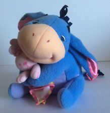 Disney Eeyore Plush Baby Rattle Fisher Price Pooh Stuffed Lovey Blue Pink Bunny